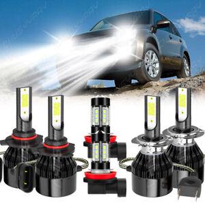 For 2006-2013 Suzuki Grand Vitara 6X 9005+H7+H11 LED faros+Kit de luz antiniebla