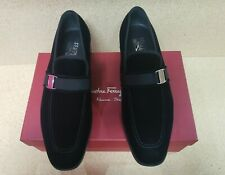 NEW Salvatore Ferragamo Men's Danny 2 Velvet Loafer Shoes - Size 12D