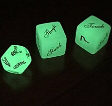 Glow in the Dark 12 Faces Sex Position Dice & A pair of Foreplay Dice for Bac...