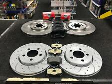 Seat Leon Cupra R 225BHP 210BHP Front 323 Rear Drilled Grooved Brake Discs Pads