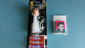 Lot distributeur PEZ Elvis Presley + boite d'allumettes Elvis Rockabilly TBE