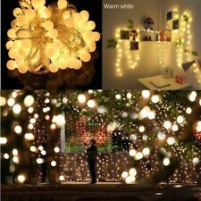10 LED Globe String Lights Indoor Outdoor Gardens Patio Party Decor Warm White
