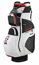 Big MAX Cartbag più leggero-Dri Lite PRIME-IMPERMEABILE-White/Black/Red, novità!