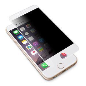 Iphone 7 inkl. CASE HÜLLE PRIVACY BLICKSCHUTZ SCHUTZGLAS WEIß 9H + Hülle CASE