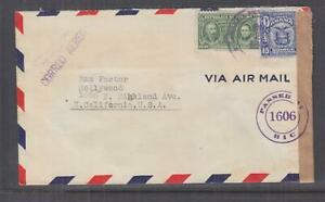 PANAMA, 1942 Airmail Censored cover to USA, 1c. & 15c.