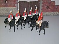 BRITAINS  MOUNTED LIFEGUARDS TROOPERS X5 AND 1 STANDARD BEARER