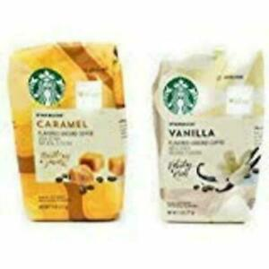 Starbucks Flavored Coffee Caramel and Vanilla 11 Oz. (Set of 2)