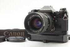 [Near Mint+] Canon AE-1 Program Black w/ winder A2 + New FD35-70mm/f4 from Japan