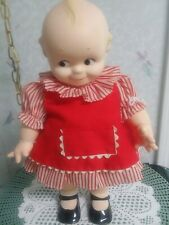 Vintage 16 Inch Cameo Kewpie Doll Red Stripe Dress