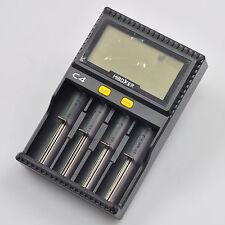 4 Slot Battery Power Smart Charger LCD Discharge Recharge Li-ion Ni-NH Ni-Cd AA