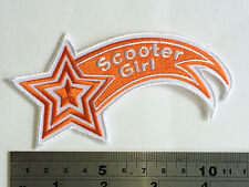 Scooter Girl (Vespa/Lambretta) Patch - Embroidered - Iron or Sew On