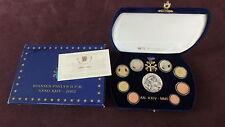 Vatikan Euro Kursmünzensatz, 2002, 1 Cent bis 2 Euro, in blauer Samtbox,
