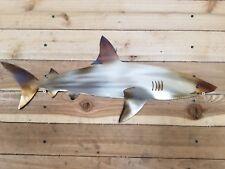 Reef Shark,Fish, Art,Wall,Home decor,Sea,Marine Life,Coral hand made in waco tx