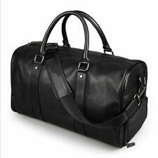 Men Leather Outdoor Gym Bag Luggage Travel Handbag