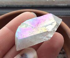 Angel Aura Quartz Crystal Point 16.4g 37mm High Vibration Opal Pearl Rainbow AA3