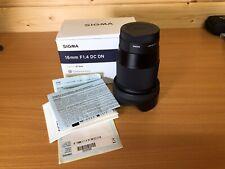 Sigma 16mm f/1.4 DC DN Contemporary wide angle prime lens Sony E mount.