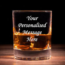 Personalised Whisky Glass & Blue Gift Box