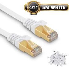 Cable Ethernet Cable Connexion Reseau Internet Plat Haut Debit Blinde 5M CAT7 FR