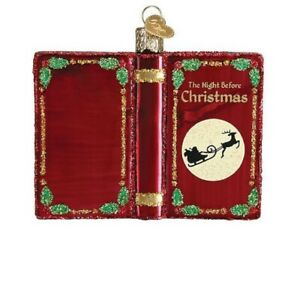 Old World Christmas The Night Before Christmas Book Ornament FREE BOX 32381 New