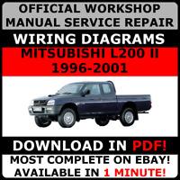 # OFFICIAL WORKSHOP Service Repair MANUAL for MITSUBISHI L200 II 1996-2001 #