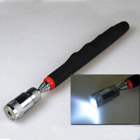 Telescopic Magnet Magnetic Pen Pick Up Rod Stick Handheld Tools with LED Light
