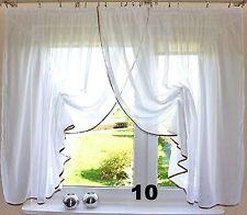 SALE!!! romantische Gardine Raffband weiß Voile 400/150 Kräußelband Wohnzimmer