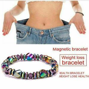 Magnetic Hematite Beads Bracelet Bangle Healing Lose Weight Therapy Men Women