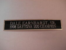 "Dale Earnhardt Sr Daytona 500 Nameplate For A NASCAR Die Cast Car 1.25"" X 6"""