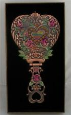 Art Deco Nouveau Style DRESSING TABLE HEARTS & ROSES HAND MIRROR Vanity Heart