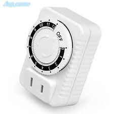 220V Timer Socket US Plug Switch Timing Charger Outlet 12 Hours Power Saver