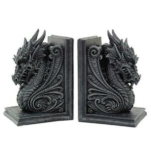 Dragons Medieval Bookend Set Book Ends