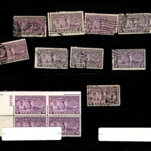 x10 1920s USA Special Delivery Stamps Lot Purple Violet 10 Cents Sheet S1