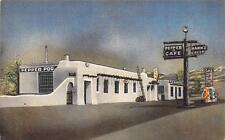 PEPPER POD TAVERN Hudson CO Roadside Colorado Texaco Gas Pumps Postcard ca 1940s