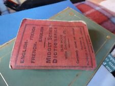 Miniature English French Midget Series Dictionaries Burgess & Bowes 1942 old