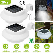 2X LED Solar Powered Gutter Lights Outdoor Garden Yard Wall Pathway Fence Lamp
