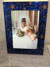 PATA 5x7 Frame - Blue with Gold Stars *NEW IN BOX*