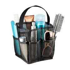 Mesh Storage Carry All Dorm Shower Caddy Travel Bag Tote Bath Toilery Spa Black
