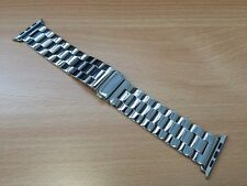 Shiny Stainless Steel Classic Buckle Watch Strap Band for Apple Watch 1 2 3 42mm
