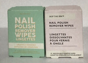 Lot of (2) Skip the Spa Nail Polish Removal Wipes