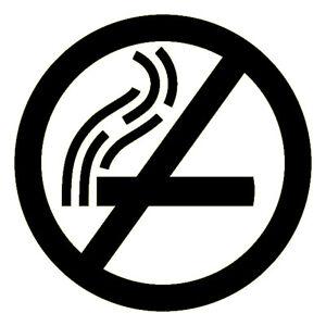 No Smoking Logo - 3M Scotchlite Reflective Sticker (Decal 680 Car Scooter Black)