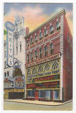 Adams Restaurant Rko Keiths Theater Boston Massachusetts linen postcard
