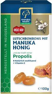(12,90€/100g) Manuka Health Honig Lutschbonbons Propolis MGO 400, 100g
