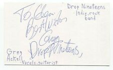 Drop Nineteens - Greg Ackell Signed 3x5 Index Card Autographed Signature Band