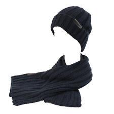 Set sciarpa e cappello uomo 100% ACRILICO in box GIAN MARCO VENTURI 71778  navy 2cdb92781df4