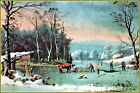 Currier & Ives |   Winter in The Country  Art Print
