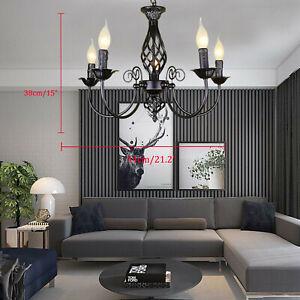 Black Pendant Light Kitchen Lamp Large Chandelier Lighting Modern Ceiling Lights