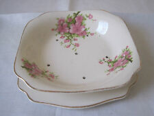 BEAUTIFUL VINTAGE A J WILKINSON PEACH BLOSSOM BERRRY OR LETTUCE DRAINER