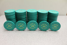 100 Paulson Casino Poker Chips - 1 Rack - Siena, Reno, NV