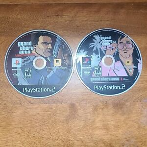 Lot Of 2 PS2 Grand Theft Auto GTA Games Liberty City & Vice City Discs Only