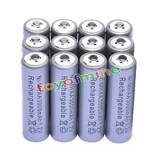 12 x AA 1.2V 3000mAh Ni-MH rechargeable battery 2A cell /RC Grey